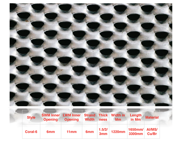 asian streck metals - Coral-6-expanded mesh