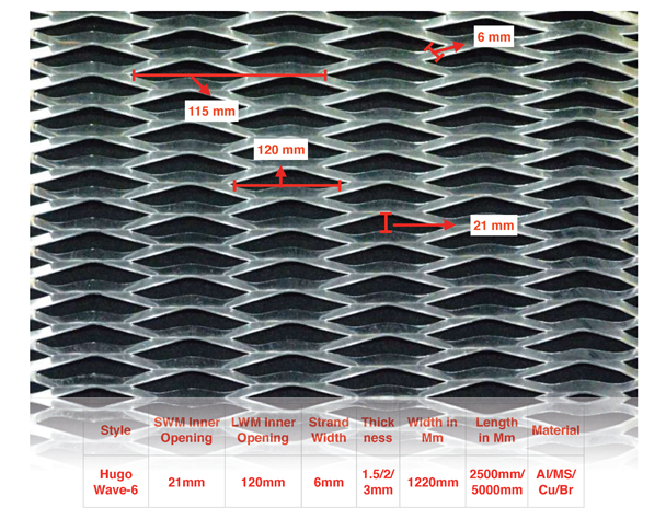 asian streck metals - Hugo Wave-6 expanded mesh
